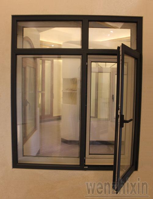 直销 高档白色平开别墅门窗 铝合金门窗 家用热销新款